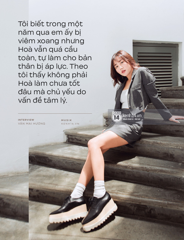 Hòa Minzy khiến hết Văn Mai Hương đến Hứa Kim Tuyền lo lắng về chuyện quá cầu toàn giọng hát 002