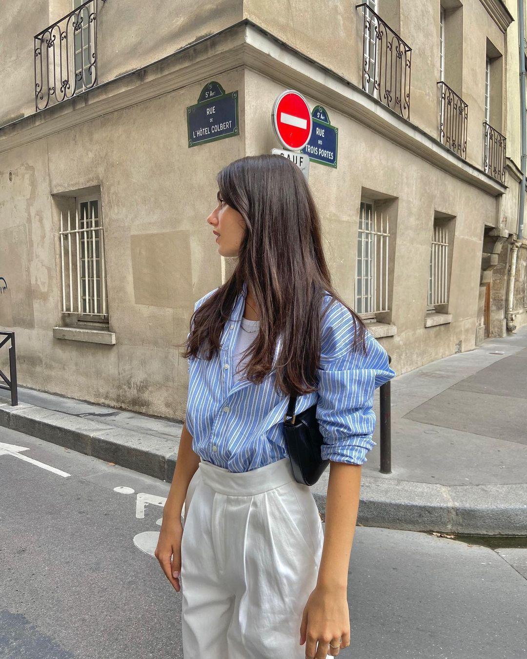 Điểm mặt 5 kiểu áo sơ mi của phụ nữ Pháp, chỉ cần diện đơn giản cũng đạt 100 điểm tinh tế! - Ảnh 6.