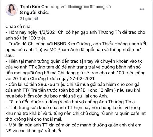NS Thương Tín bỏ 100 triệu đồng vào túi áo định chạy xe máy về Phan Rang, Trịnh Kim Chi và bạn bè vội vàng ngăn cản - ảnh 1