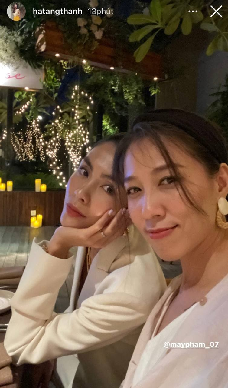 Ha Tang met with friends for ten years: the beauty of the jewel overwhelmed both Bang Di and his wife Pham Anh Khoa - Photo 2.