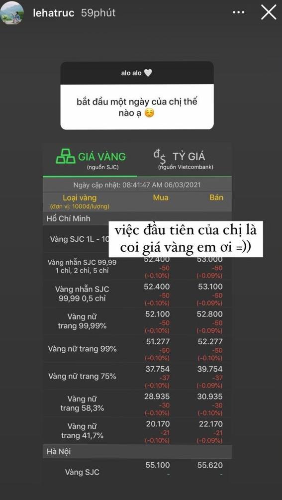 Bạn gái cơ trưởng điển trai nhất Việt Nam khoe xem giá vàng mỗi sáng vì 1 lý do rất mê trai - ảnh 3