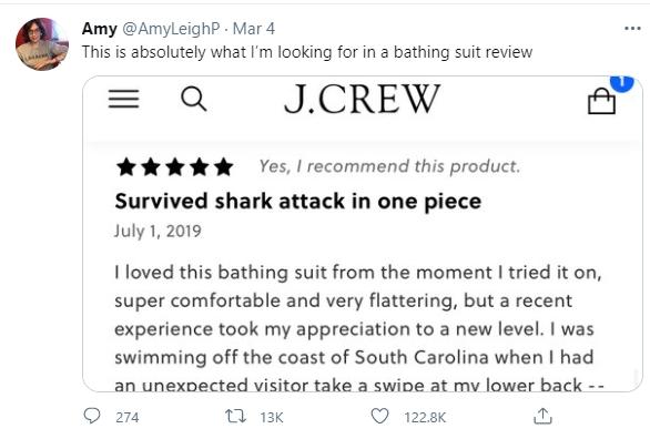 Bị cá mập cắn vẫn không hề hấn gì, người phụ nữ sống sót ngoạn mục trở về liền viết ngay bài... review đồ bơi khiến chị em rần rần - ảnh 2