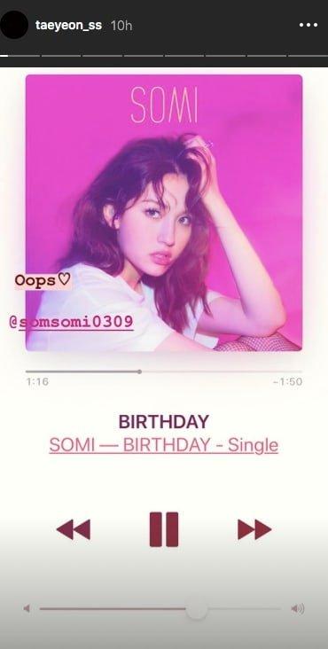 Somi ghi điểm với pha chúc mừng sinh nhật có 1-0-2 bằng trò nối chữ khiến Taeyeon cũng phải thốt lên: Quả là màn kết hợp xịn xò! - ảnh 2