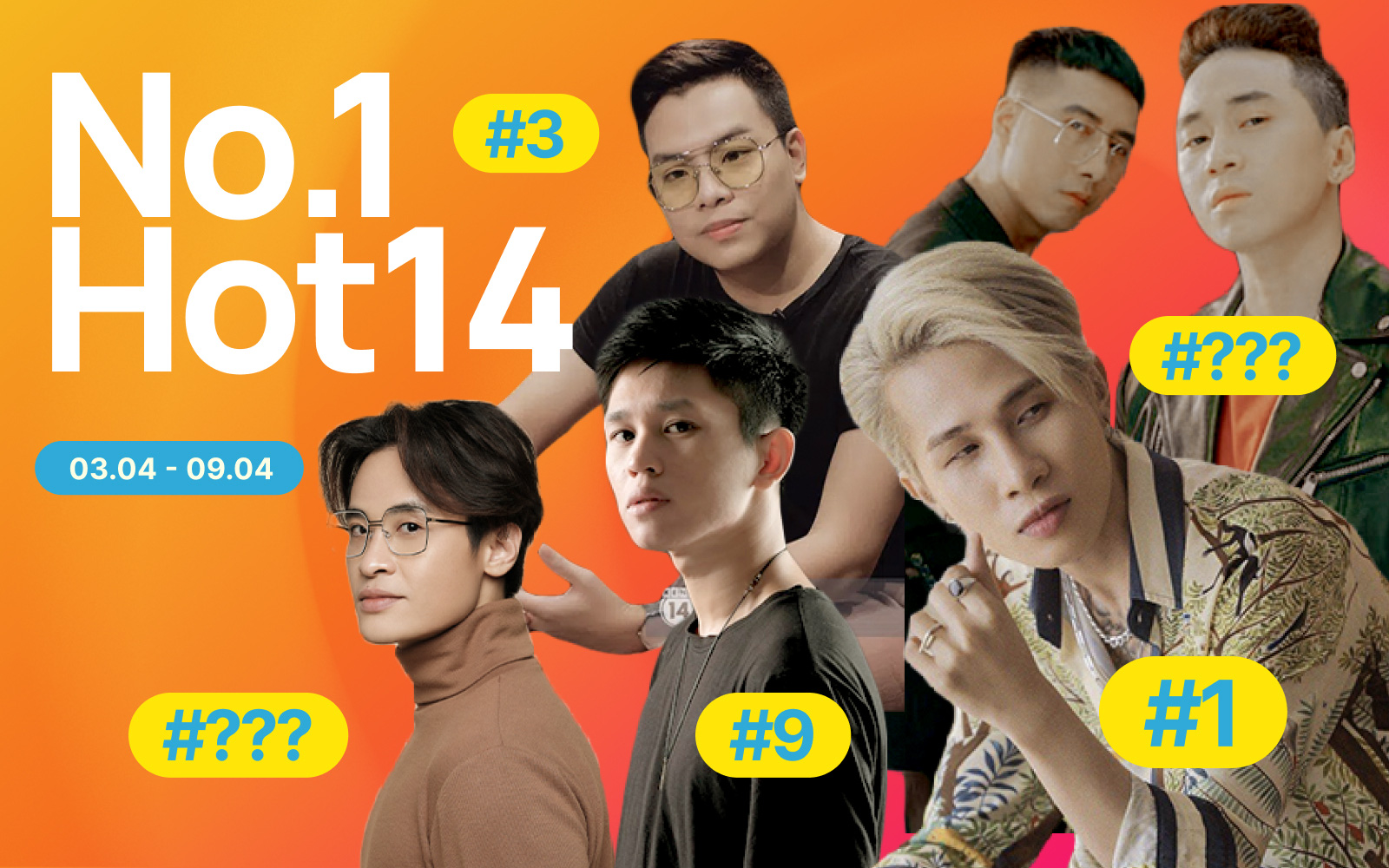Hà Anh Tuấn bất ngờ debut hạng cao, Jack suýt mất No.1 về tay hit Sài Gòn Đau Lòng Quá và 5 nhân tố mới tại HOT14