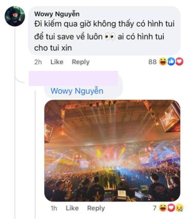 Kết thúc Rap Việt Concert 2 ngày, Wowy bỗng dỗi hờn vì BTC giấu tiệt ảnh, tấm hình rõ nhất cũng chỉ là chụp qua màn hình led - ảnh 1