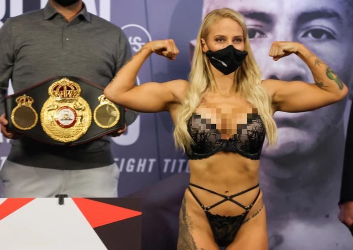 Nữ võ sĩ xinh đẹp bị đánh biến dạng mặt khi tham gia trận tranh đai thế giới - Ảnh 5.