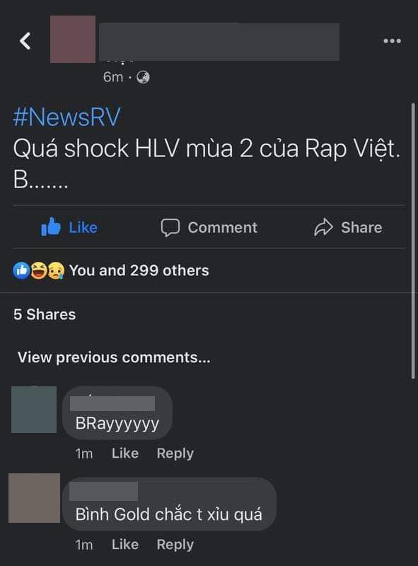 Rộ tin B Ray hoặc Bình Gold sẽ trở thành HLV thay thế Suboi tại Rap Việt mùa 2? 001
