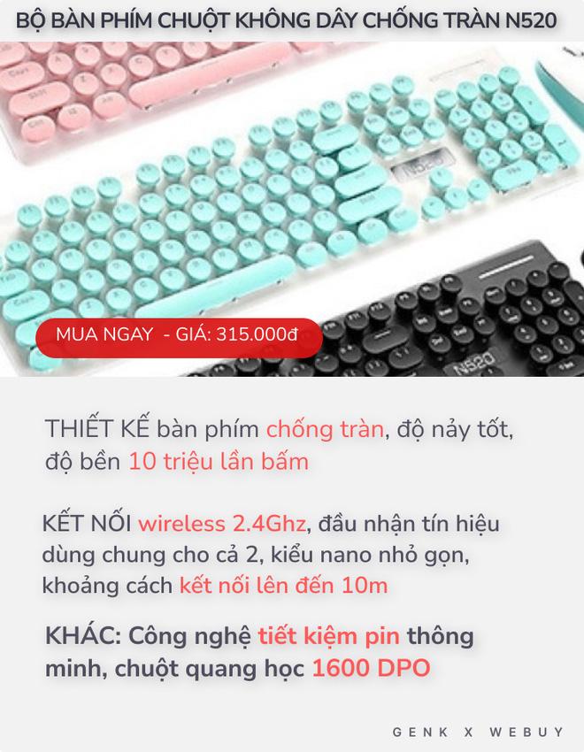 """4 bàn phím chống tràn dành cho """"team hậu đậu"""": Giá chỉ từ 110K, nhiều loại kết nối không dây cực tiện - ảnh 1"""