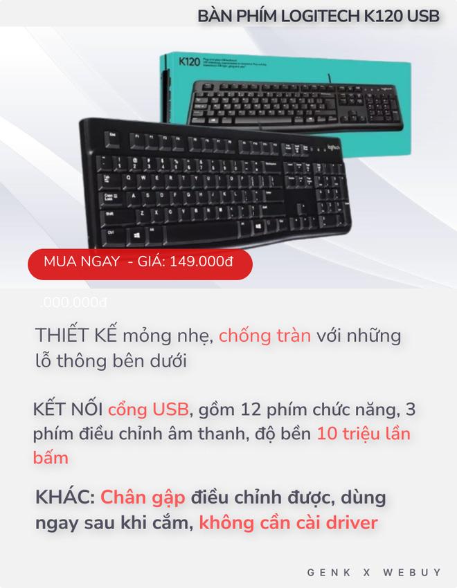 """4 bàn phím chống tràn dành cho """"team hậu đậu"""": Giá chỉ từ 110K, nhiều loại kết nối không dây cực tiện - ảnh 3"""