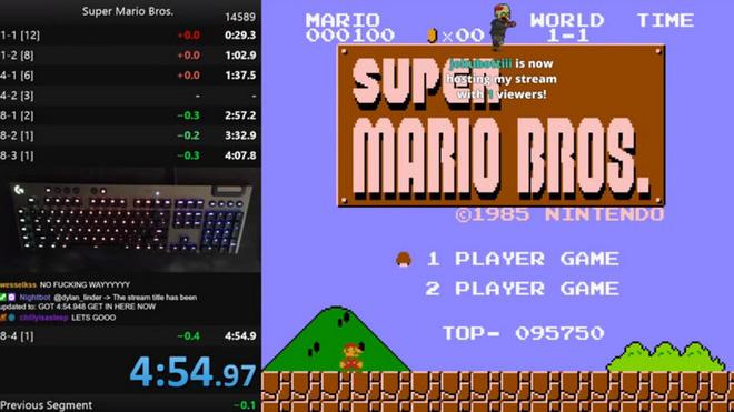 """Game thủ """"phá đảo"""" Super Mario Bros nhanh nhất với thời gian chưa đầy 4 phút 55 giây - ảnh 1"""