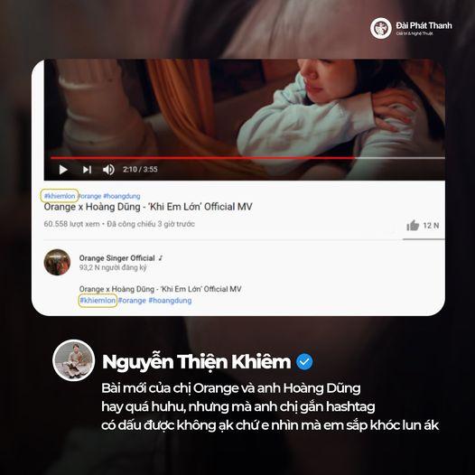 Orange - Hoàng Dũng tung MV Khi Em Lớn nhưng không lường được sự phong phú của tiếng Việt lại cho ra hashtag nhạy cảm cỡ này - ảnh 4