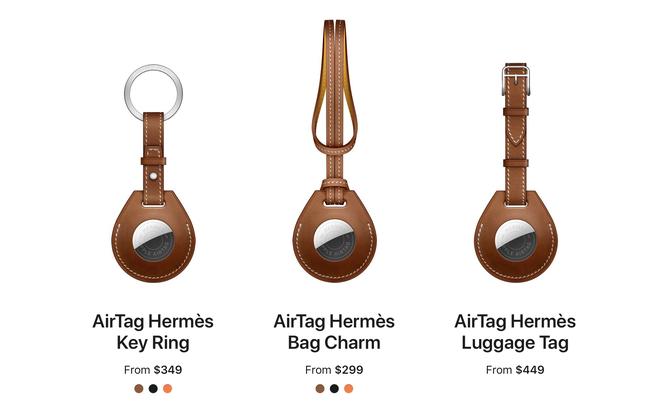 Apple cùng Hermes làm phụ kiện cho AirTag, giá gần 10 triệu đồng cho một chiếc... móc khoá - ảnh 3
