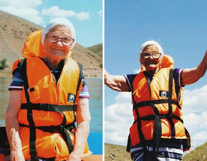 Cụ bà 91 tuổi người Nga một mình đi du lịch khắp thế giới bằng tiền tiết kiệm, còn đến cả Việt Nam cưỡi xe máy cực chất! - Ảnh 5.