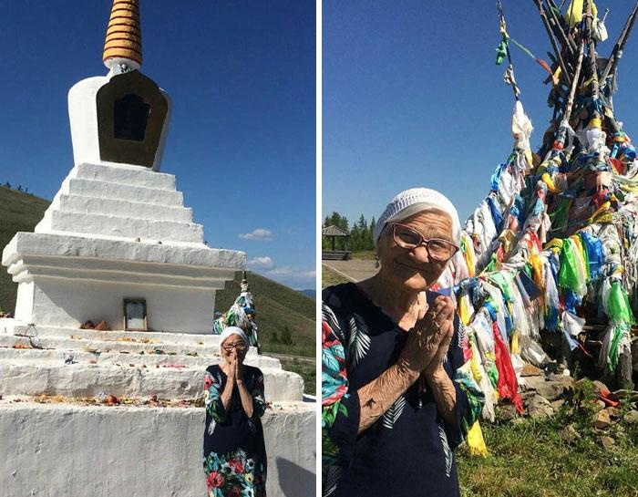 Cụ bà 91 tuổi người Nga một mình đi du lịch khắp thế giới bằng tiền tiết kiệm, còn đến cả Việt Nam cưỡi xe máy cực chất! - Ảnh 2.