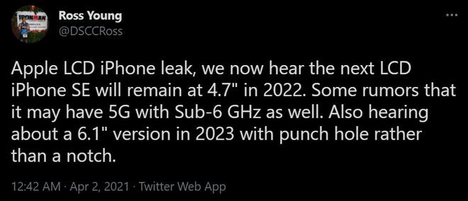 iPhone SE 2022 sẽ hỗ trợ mạng 5G, thiết kế giống iPhone 11 trong khi iPhone SE 2023 sẽ bỏ tai thỏ? - Ảnh 2.