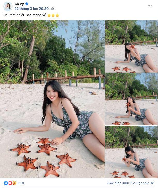 Quỳnh Anh Shyn - An Vy (FAPTV) bị đào lại loạt ảnh bikini với sao biển giữa lúc con vật này đang chết khô hàng loạt ở Phú Quốc - Ảnh 3.