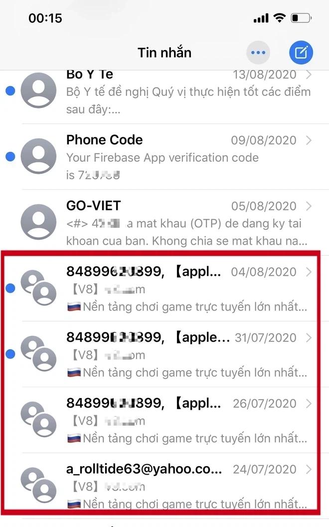 Cảnh báo: Cẩn thận với nạn spam tin nhắn dụ dỗ chơi cờ bạc online trên iPhone - ảnh 1