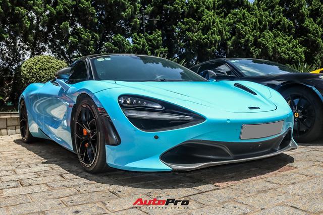 Cận cảnh ngoại thất mới đổi màu của McLaren 720S Spider thuộc sở hữu của dân chơi lan đột biến - ảnh 1