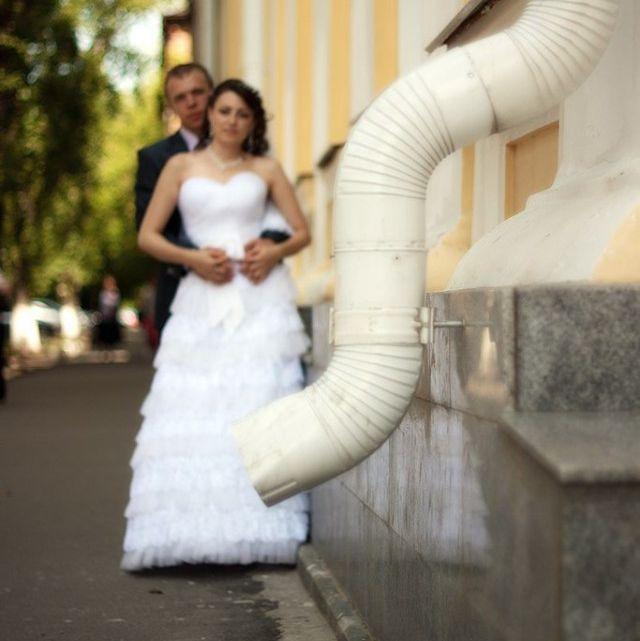 Tuyển tập những tấm ảnh cưới không đẹp tí nào nhưng chắc chắn cô dâu chú rể đều... vui tính - ảnh 13