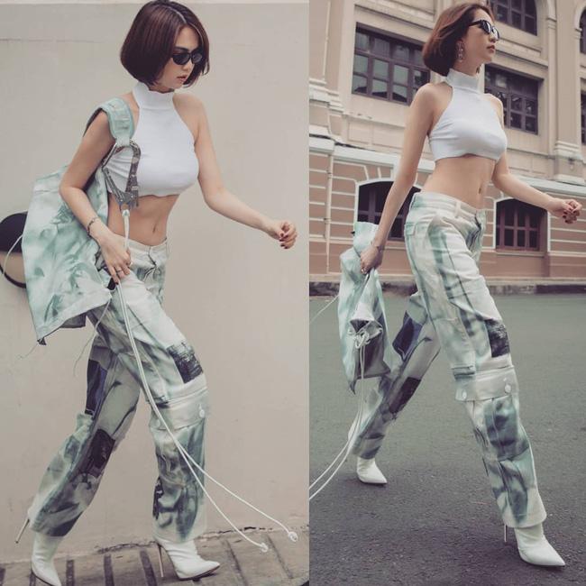 Vừa diện quần jeans 140 triệu, Ngọc Trinh đã vội quay xe với kiểu quần độc dị, soi giá lại rẻ giật mình - ảnh 10