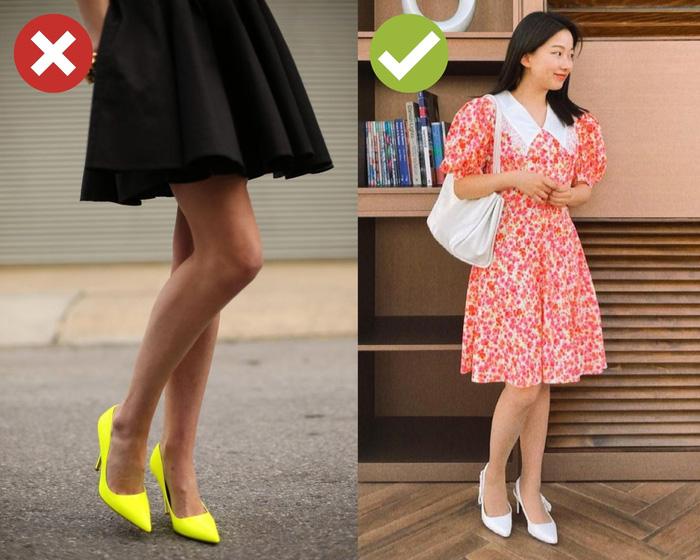 4 kiểu giày dép cứ mix với váy là hỏng cả set đồ, vóc dáng bị dìm cực thảm - Ảnh 3.