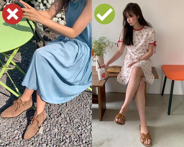 4 kiểu giày dép cứ mix với váy là hỏng cả set đồ, vóc dáng bị dìm cực thảm - Ảnh 4.