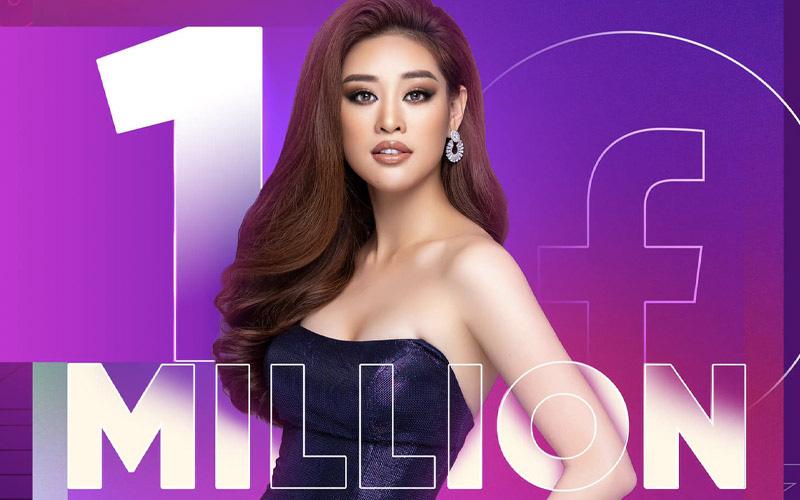 Độ hot của Khánh Vân tăng vọt chỉ sau 4 ngày chinh chiến tại Miss Universe, chính thức cán mốc 1 triệu follower Facebook