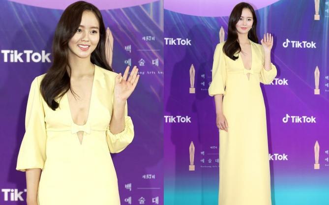 """Sao nhí Kim So Hyun khiến cả xứ Hàn chao đảo vì màn lột xác táo bạo, xẻ ngực sâu hoắm """"đốt cháy"""" thảm đỏ Baeksang 2021"""
