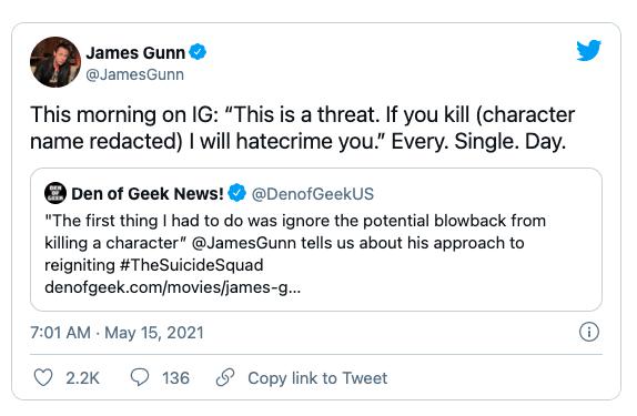 Tự spoil cái kết đẫm máu, đạo diễn The Suicide Squad bị đe dọa bởi người hâm mộ hằng ngày - Ảnh 2.
