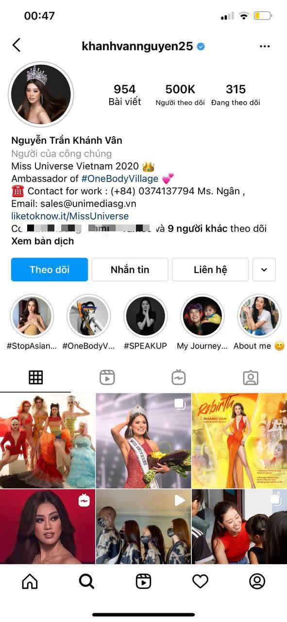 Sau 2 tuần tăng khủng, Instagram của Hoa hậu Khánh Vân cán mốc 500K follower - ảnh 2