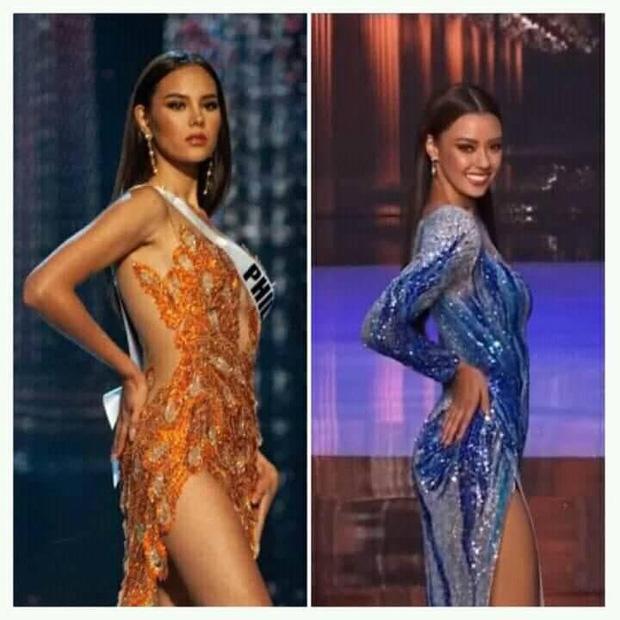 2 thái cực dàn hậu xả vai ở hậu trường Miss Universe: Khánh Vân quá thân thiện, Miss Thái lộ đôi mắt xéo xắt gây tranh cãi - ảnh 1