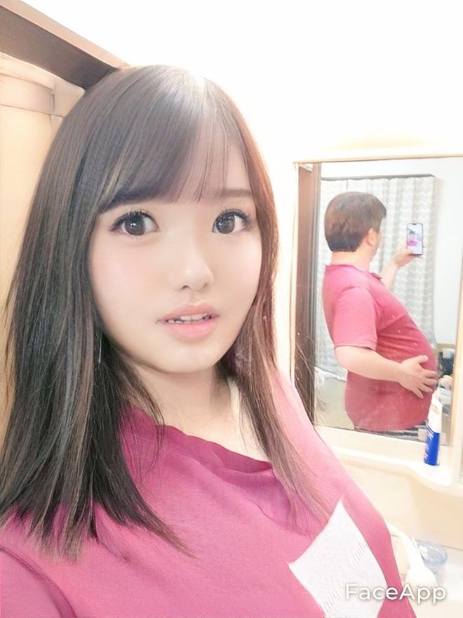 Thêm 1 ông chú Nhật Bản biến hóa thành hotgirl nhờ sử dụng ma thuật FaceApp - ảnh 3