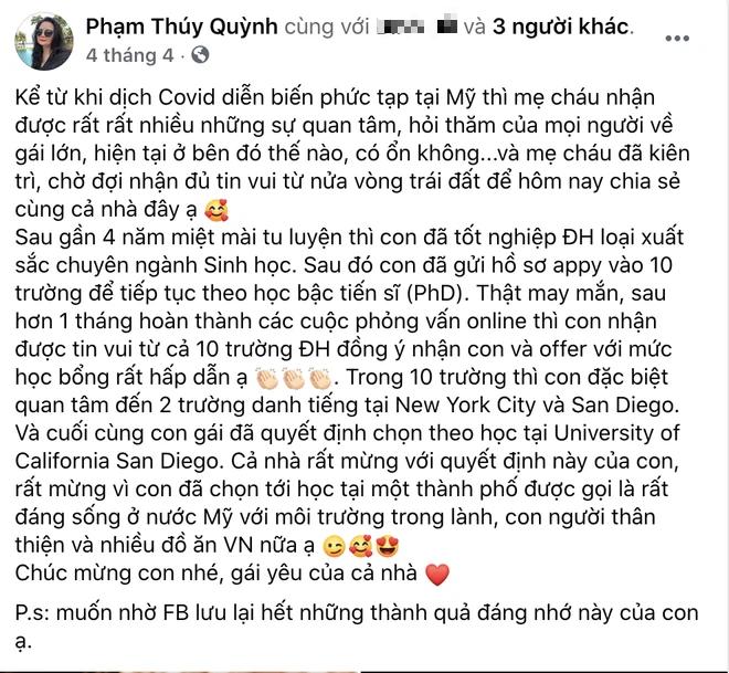 Choáng với loạt thành tích cực khủng của cháu gái Phạm Quỳnh Anh: 23 tuổi giật nhẹ 9 học bổng tiến sĩ - ảnh 9