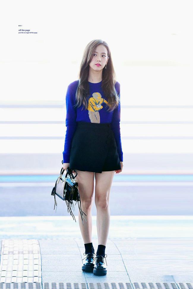Không phải chân váy dài, đây mới là kiểu chân váy Jisoo mặc vì giúp ăn gian cả chục phân chiều cao - ảnh 7