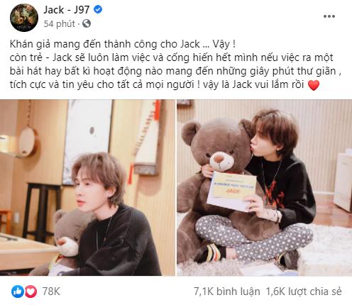 Jack khẳng định luôn làm việc và cống hiến hết mình dù ra bài hát hay bất kì hoạt động nào sau khi xác nhận tham gia Running Man Việt - ảnh 1