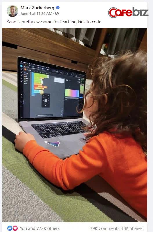 Mark Zuckerberg khoe con gái 5 tuổi học lập trình, cộng đồng mạng tấm tắc chắc cô bé sắp xây Facebook phiên bản thứ 2 - ảnh 1