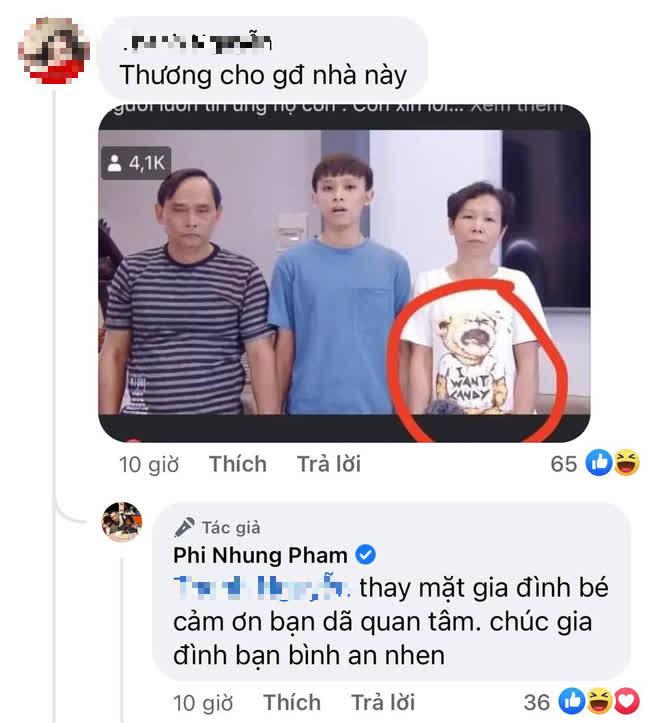 """Phản ứng gây chú ý của Phi Nhung khi bị """"spam"""" ảnh gia đình Hồ Văn Cường và nhấn mạnh chi tiết """"cầu cứu"""" trên áo người mẹ - ảnh 1"""