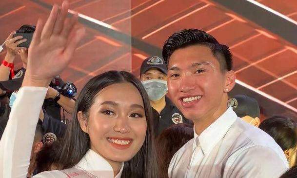 Đoàn Văn Hậu đánh đầu giúp Tiến Linh ghi bàn, bồ tin đồn top 10 Hoa hậu Việt Nam có ngay động thái - ảnh 2