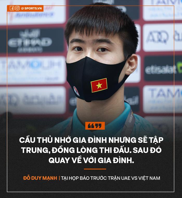 Duy Mạnh: Cầu thủ nhớ vợ con nhưng sẽ đồng lòng thi đấu - Ảnh 1.