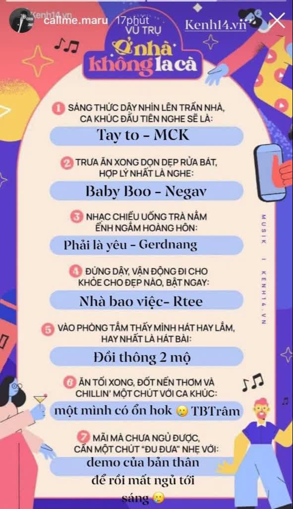 Ngọc Trinh, Phí Phương Anh và dàn sao Vpop ở nhà chơi template cực cool, biết hết gu nhạc cùng nhiều funfact thú vị khác, bạn chơi cùng không? - ảnh 8