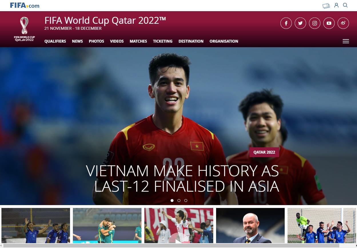 Trang chủ FIFA đặt ĐT Việt Nam ở vị trí to, đẹp, khen là bất ngờ lớn nhất - Ảnh 1.