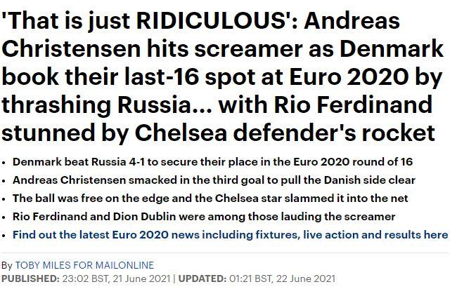 Báo chí thế giới ngã mũ thán phục trước màn thoát hiểm thần kỳ của Đan Mạch ở Euro 2020 - ảnh 9
