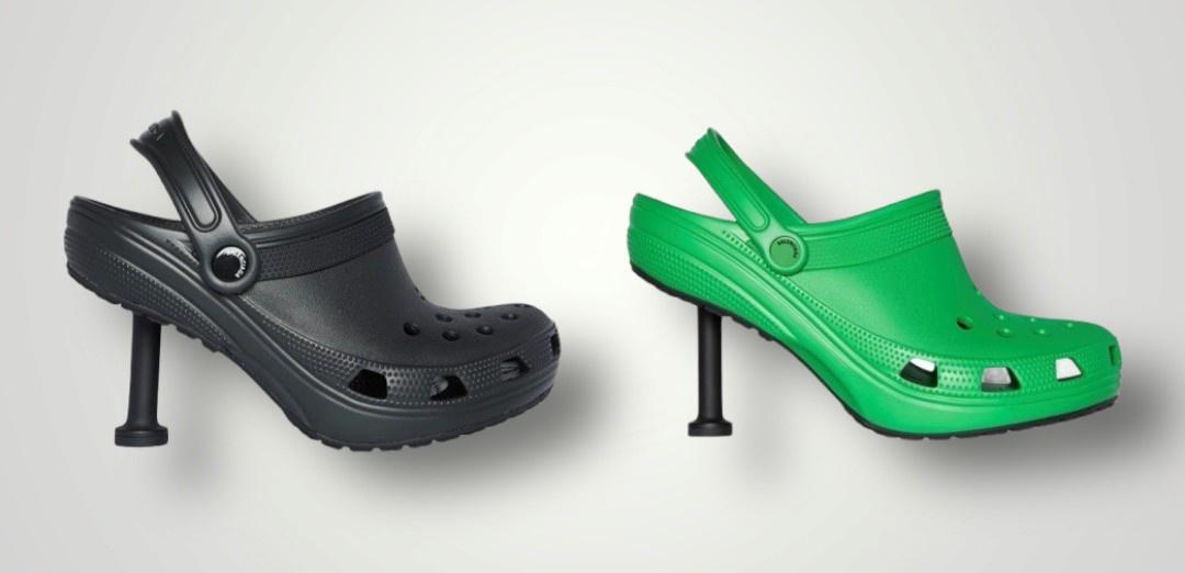 Trời mưa, đám mây thì ra nước còn Balenciaga X Crocs thì ra loại giày cao gót này! - Ảnh 1.