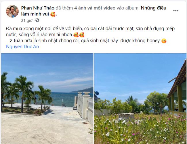 Phan Như Thảo hào hứng tặng sinh nhật chồng cả mảnh đất ven biển, ai dè bị đại gia Đức An bóc mẽ sự thật - Ảnh 2.