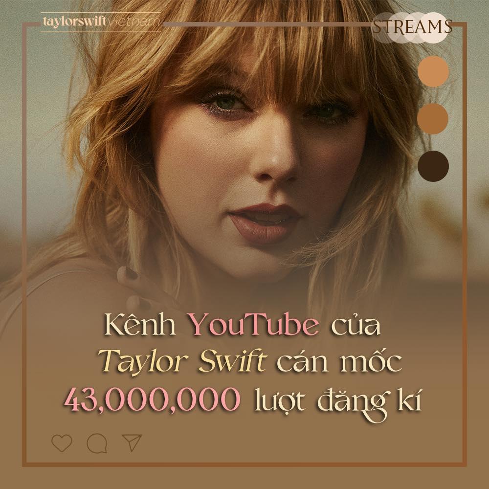 Kênh YouTube của chị đại Taylor Swift đạt 43 triệu subscribers nhưng vẫn phải xếp sau Ariana Grande và một nhóm nhạc Hàn? - Ảnh 2.