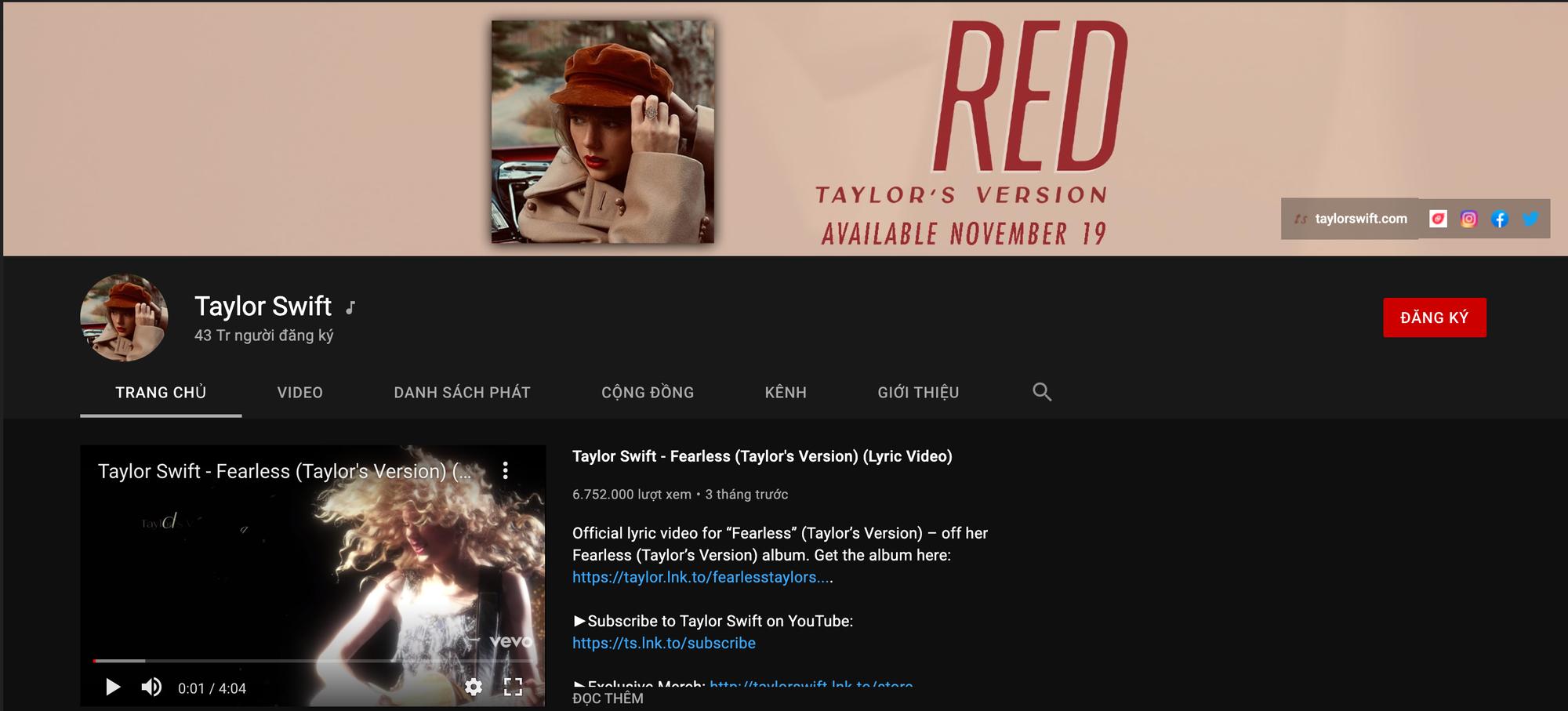 Kênh YouTube của chị đại Taylor Swift đạt 43 triệu subscribers nhưng vẫn phải xếp sau Ariana Grande và một nhóm nhạc Hàn? - Ảnh 3.