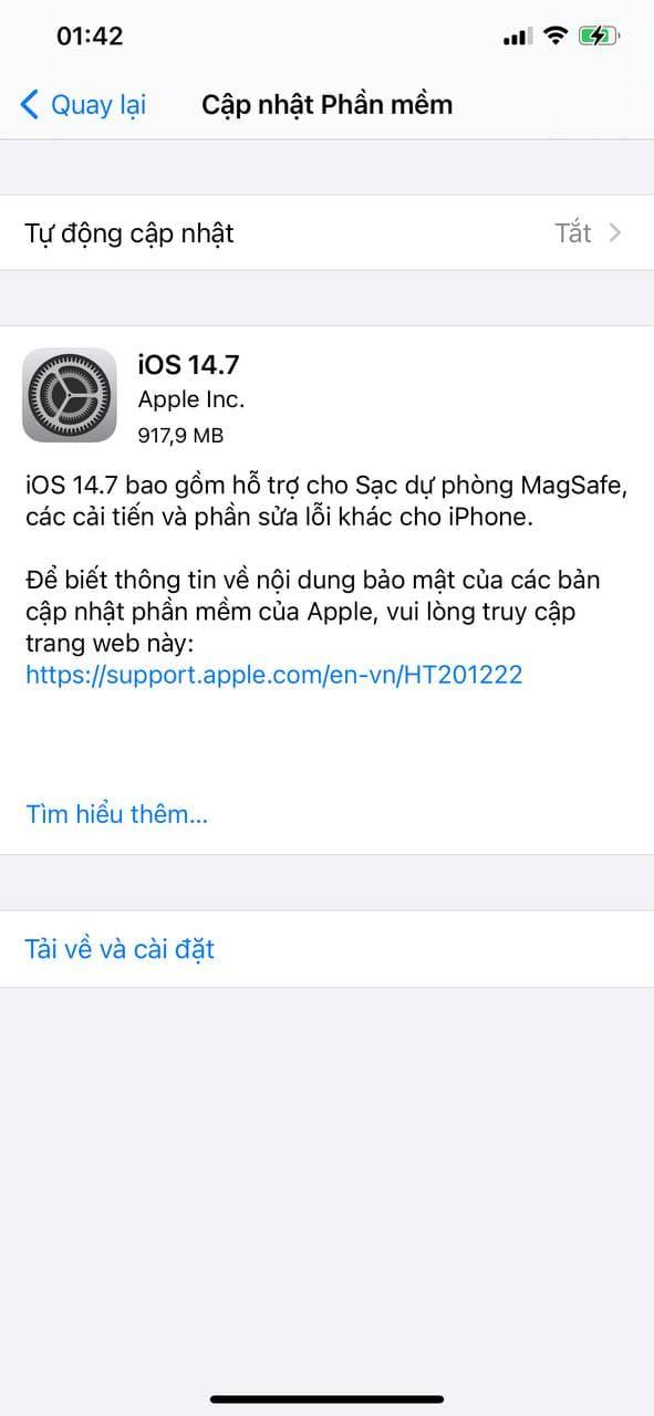Apple tung iOS 14.7 cho iPhone, người dùng nên cập nhật ngay! - ảnh 1