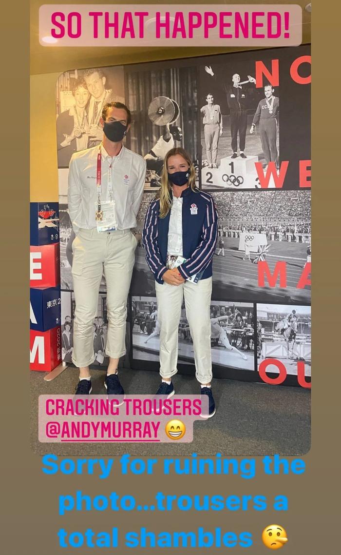 Andy Murray chụp chung với nữ VĐV xinh đẹp trước thềm Olympic, ai ngờ phải lên tiếng xin lỗi chỉ vì... cái quần - Ảnh 1.