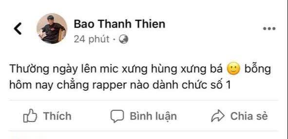 Cả cõi mạng thắc mắc Ai là rapper số 1 Việt Nam, B Ray chốt 1 câu trúng tim đen khối người - ảnh 1
