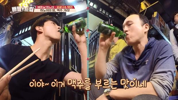Phát hiện thêm một chàng rể Việt Nam: Mỹ nam 6 múi của 2PM nhiệt tình đội nón lá, uống bia Tạ Hiện - ảnh 6